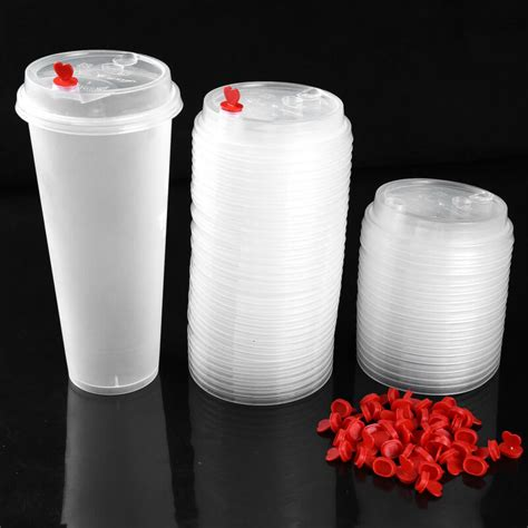 If a coffee shop thinks that increasing the price and switching to recyclable products will increase sales they will do it. 100Pcs Disposable Coffee Cup Lids Plastic Hot Cup Covers w ...