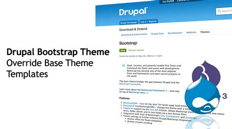 base template bootstrap override base theme templates how to build drupal themes