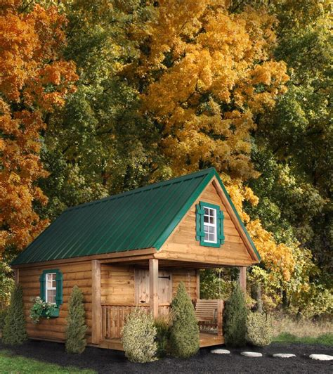 AMISH BUILT Log Cabin Kids Playhouse 8x12 with loft over
