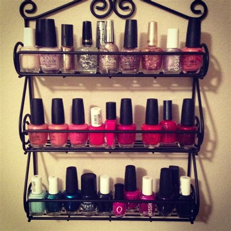 Spice Rack For Nail by Nail Holder Diy Target Spice Rack Things
