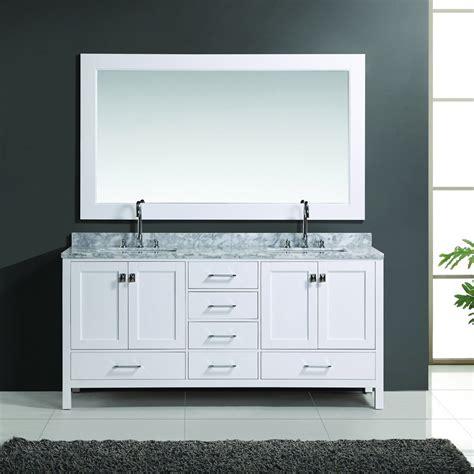 double sink mirrored bathroom vanity design element 72 quot london double sink bathroom vanity w