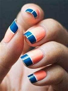 Cool, Color, Block, Nail, Designs