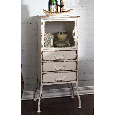 White Metal Cabinet by 3 Drawer Distressed White Metal Cabinet Ebay