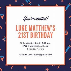 Customize 556+ 21st Birthday Invitation templates online