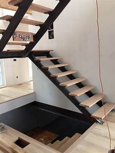 A Structural Gem  Custom Steel Staircase Nearly Complete