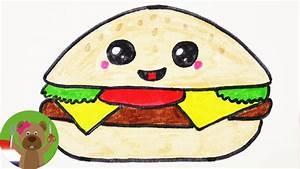 Richtig Coole Bilder : kawaii cheeseburger diy tekenen schattige burger voor uitnodigingen en verjaardagskaarten ~ Eleganceandgraceweddings.com Haus und Dekorationen
