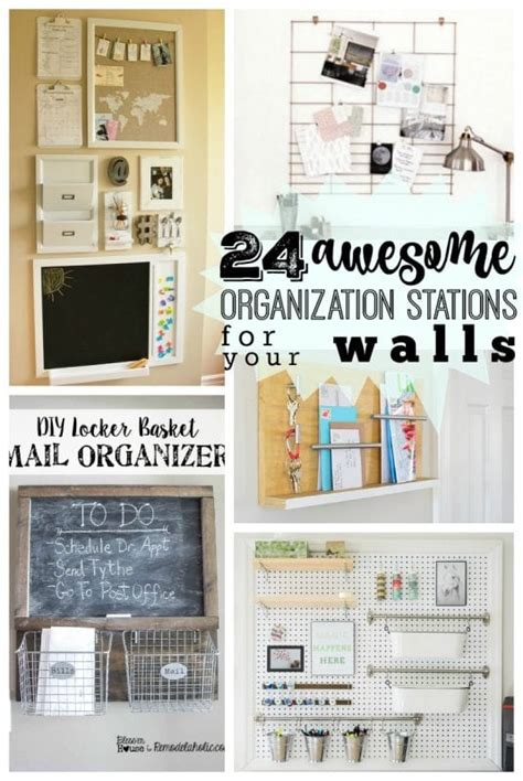 kitchen wall organization remodelaholic 24 awesome diy wall organization stations 3455