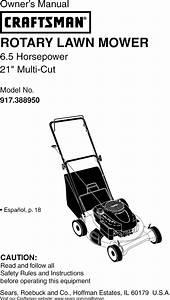 Craftsman 917388950 User Manual Lawn Mower Manuals And
