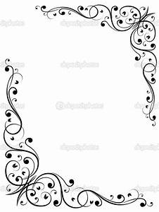 Free Fancy Borders and Frames | Simple abstract floral ...