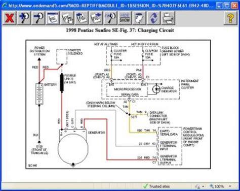 2001 pontiac sunfire starter wiring diagram somurich com