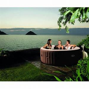 Spa 4 Places : spa gonflable purespa bulles led 4 places intex ~ Nature-et-papiers.com Idées de Décoration