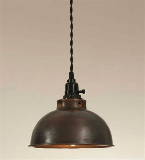 aged copper dome pendant l light lighting fixtures
