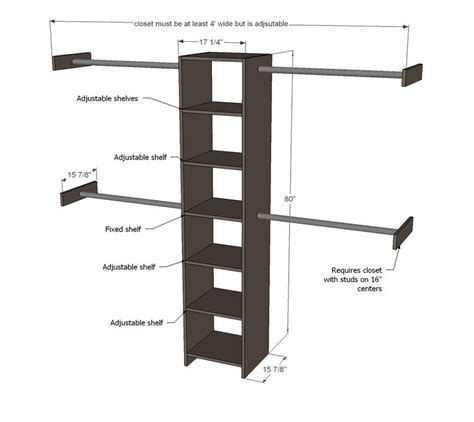 woodworking closet organizer plans woodworking projects