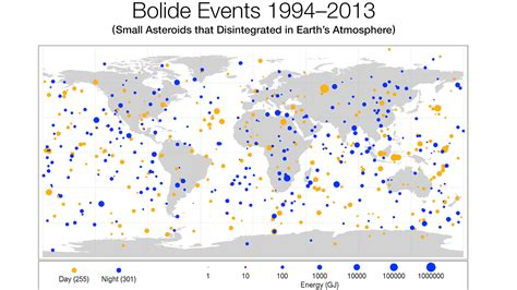 News | New Map Shows Frequency of Small Asteroid Impacts ...