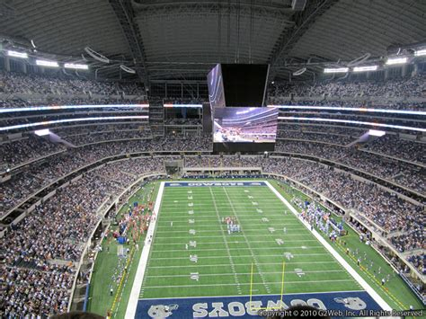 att stadium section  dallas cowboys rateyourseatscom