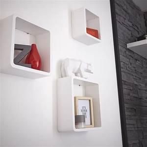 Etagere Cube Blanc : 1001 id es tag res murales 77 mod les qui vont vous accrocher ~ Teatrodelosmanantiales.com Idées de Décoration