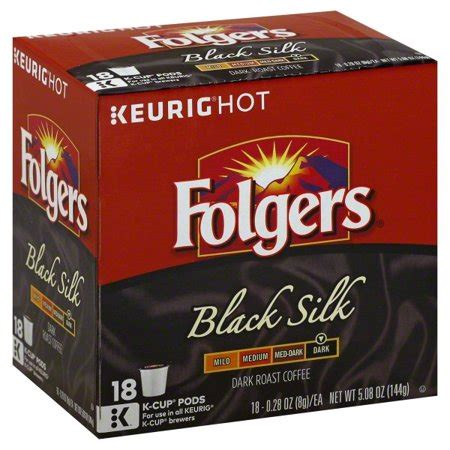 The majority of decaf coffee, about 80%, is decaffeinated with a chemical decaffeination method using chemicals like methylene chloride or ethyl acetate. Folgers Black Silk Coffee, Dark Roast, K-Cup Pods for Keurig K-Cup Brewers, 18 Count - Walmart.com