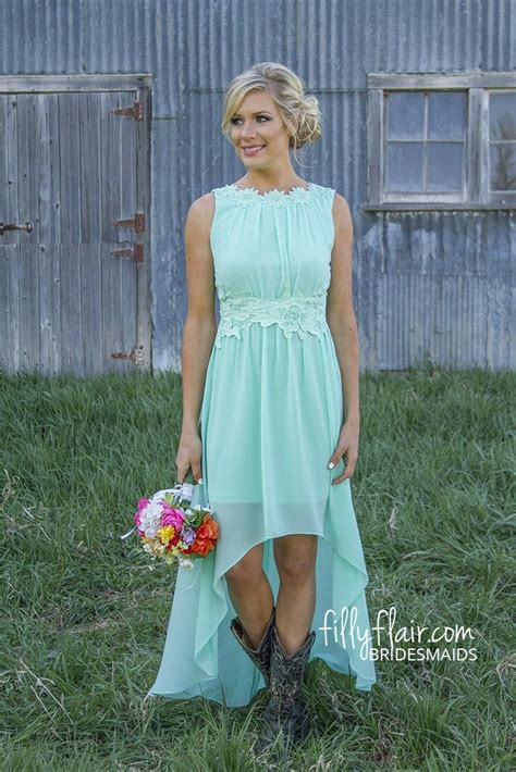 boots   bridesmaid dress perfect   country