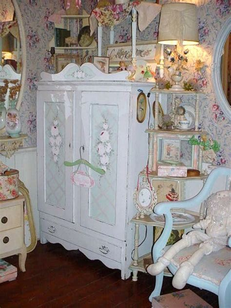 shabby chic painted chairs vintage cottage painted roses armoire chic furniture storage