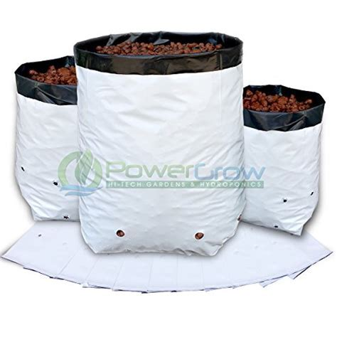 Grow Bags   1 Gallon Black and White Grow Bags   Heavy