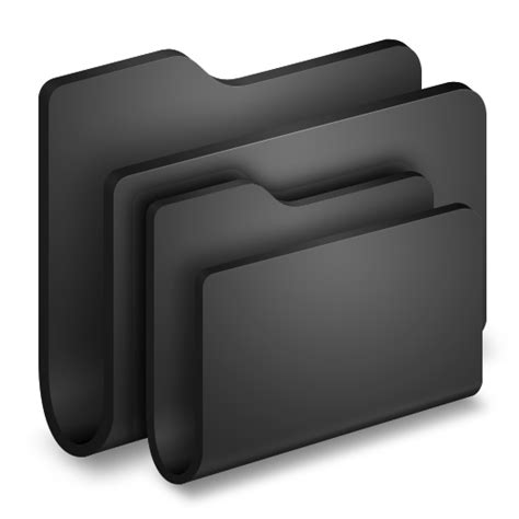 folders black folder icon alumin folders iconset wil