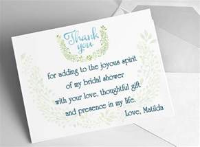 wedding thank you cards what to write bridal shower thank you card ideas