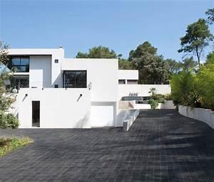 best maison moderne blanc images design trends 2017 With decoration jardin exterieur maison 16 idee deco entree noir et blanc