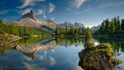 Mountain Landscape Lake Canada Rock Desktop Wallpapers