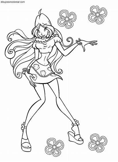 Dibujos Colorear Winx Personajes Hermosas