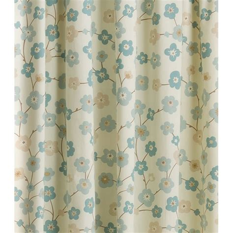 Cherry Blossom Curtains Uk by Belfield Furnishings Cherry Blossom Print Duckegg Pencil