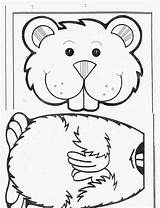 Groundhog Puppet Kindergarten Bag Paper Template Crafts Coloring Puppets Printables Preschool Activities Ground Hog Craft Worksheets Google February Arts Fun sketch template