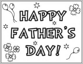 Happy Father's Day Coloring Pages