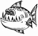Fish Coloring Pages Monster Angler Funny Poisonous Viper Printable Anglerfish Viperfish Getcolorings Getdrawings Colorings sketch template