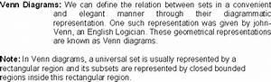 Venn Diagrams - Math Formulas - Mathematics Formulas