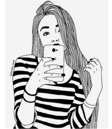 Best Black And White Drawings Of Girls Ideas And Images On Bing