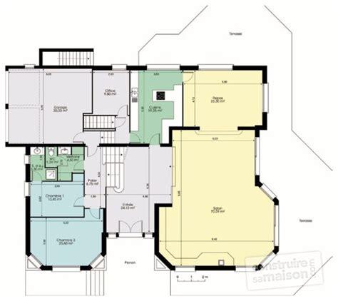 plan d une villa avec piscine maison moderne