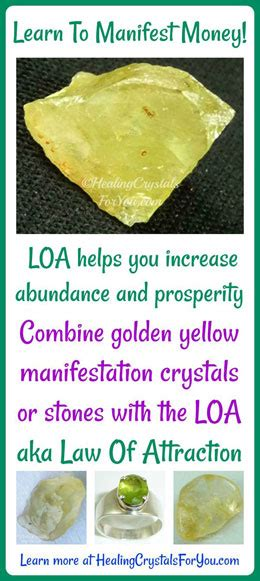 manifest money  crystals  law  attraction