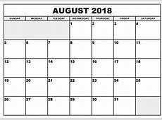 August 2018 Calendar Holidays USA UK Malaysia Singapore