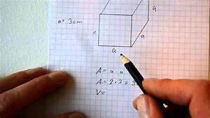 Oberfläche Eines Würfels Berechnen : fl che und volumen eines w rfel quaders berechnen youtube ~ Themetempest.com Abrechnung
