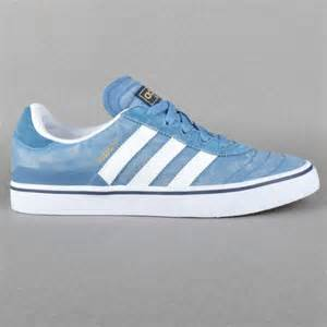 All White Adidas Skate Shoes
