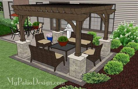 sq ft simple  affordable brick patio design