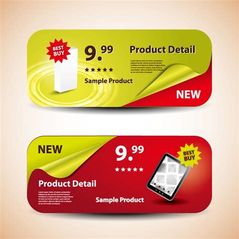 promotional banners free vector graphic download