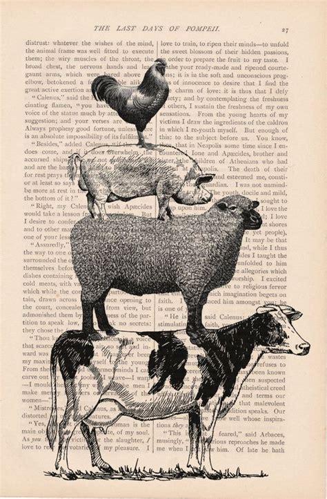 vintage print farm animals bing images diy wood