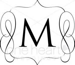 fancy letter m cliparts