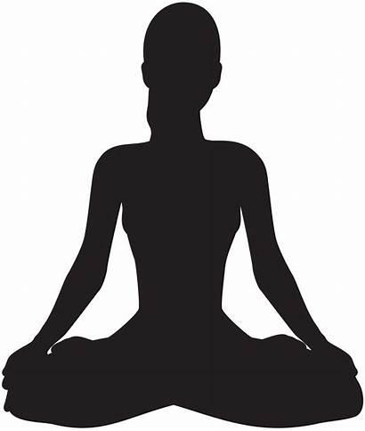 Meditation Meditating Silhouette Clipart Transparent Clip Meditate