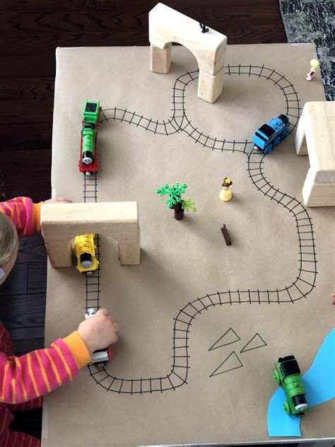 toddler approved easy diy paper train table  kids