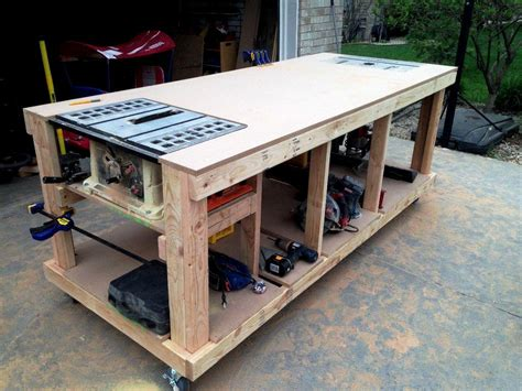 table saw workbench woodworking plans garage workbench plans and patterns garage home decor