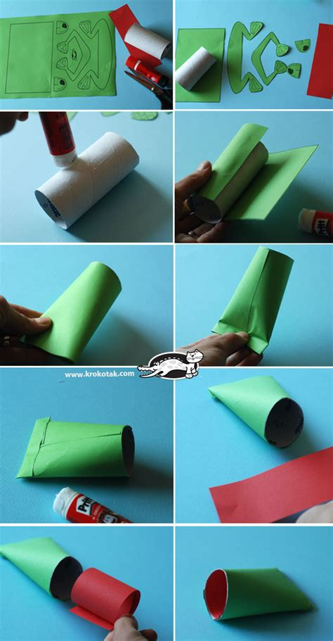 krokotak toilet paper tube frog