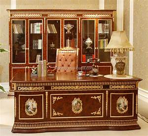 Luxury, French, Rococo, Style, Classic, Office, Desk, Antique, Palace, Royal, Wood, Carved, Hand, Painted