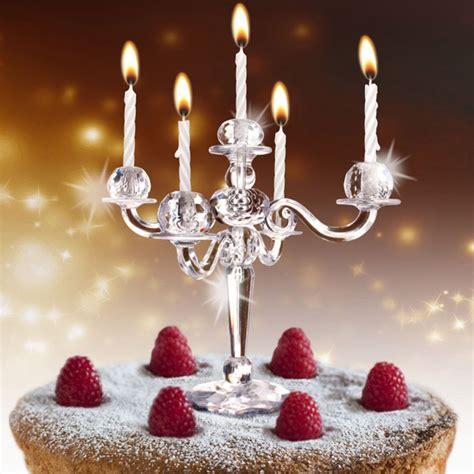 Kerzenständer Für Kuchen Und Torte  Mit 9 Weißen Kerzen